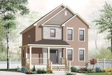 House Plan Design - Country Exterior - Front Elevation Plan #23-2550
