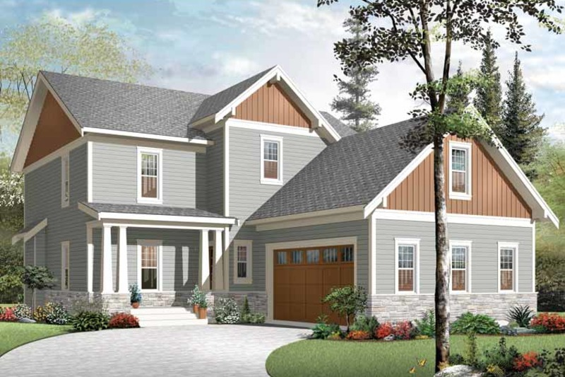 Traditional Exterior - Front Elevation Plan #23-2557 - Houseplans.com