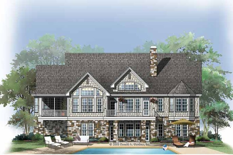 Craftsman Exterior - Rear Elevation Plan #929-761 - Houseplans.com