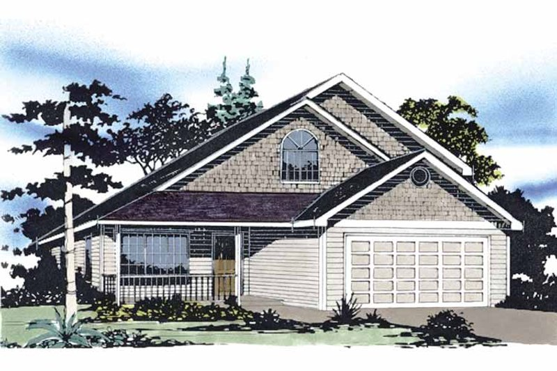 Traditional Exterior - Front Elevation Plan #509-180 - Houseplans.com