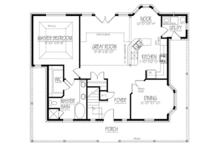 Colonial Floor Plan - Main Floor Plan Plan #1061-16