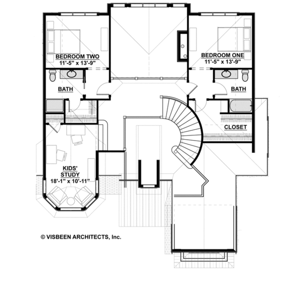 Architectural House Design - Country Floor Plan - Upper Floor Plan #928-269