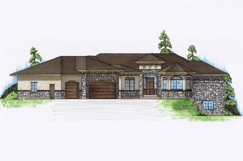 Mediterranean Exterior - Front Elevation Plan #945-133