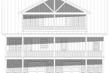 House Plan Design - Country Exterior - Rear Elevation Plan #932-351