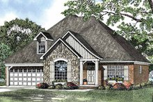 Architectural House Design - Country Exterior - Front Elevation Plan #17-3091