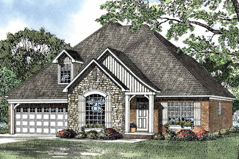 Country Exterior - Front Elevation Plan #17-3091 - Houseplans.com