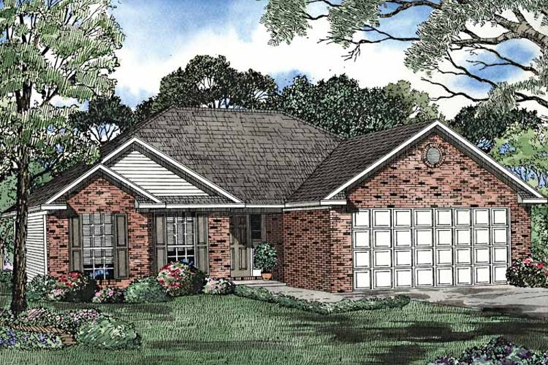 Ranch Exterior - Front Elevation Plan #17-3210 - Houseplans.com