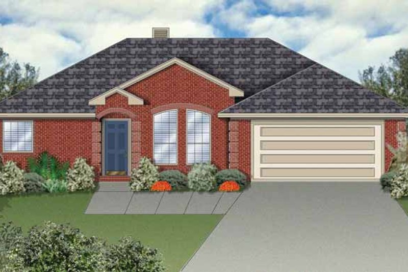 Ranch Exterior - Front Elevation Plan #84-644