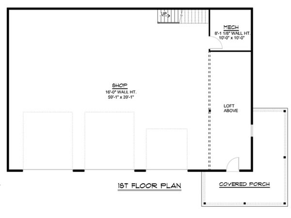 Country Floor Plan - Main Floor Plan Plan #1064-52