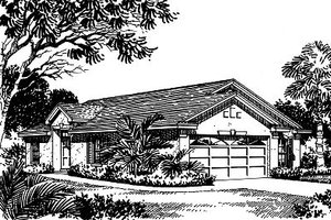 Mediterranean Exterior - Front Elevation Plan #417-115