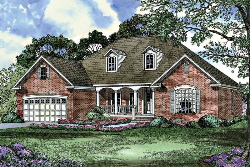 Country Exterior - Front Elevation Plan #17-3110 - Houseplans.com