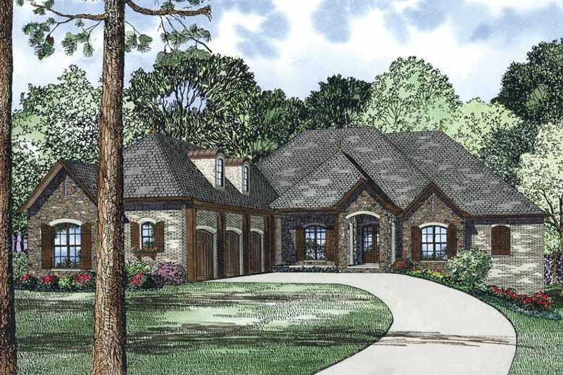 Home Plan - Country Exterior - Front Elevation Plan #17-3350