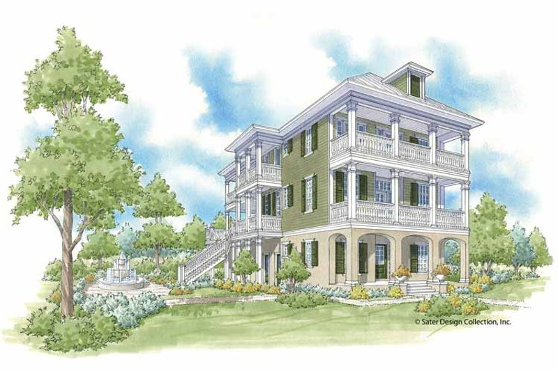 Traditional Exterior - Front Elevation Plan #930-403 - Houseplans.com