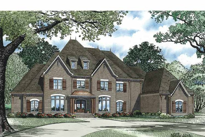 European Exterior - Front Elevation Plan #17-3329 - Houseplans.com
