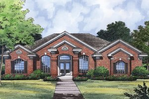 House Design - Traditional Exterior - Front Elevation Plan #417-835