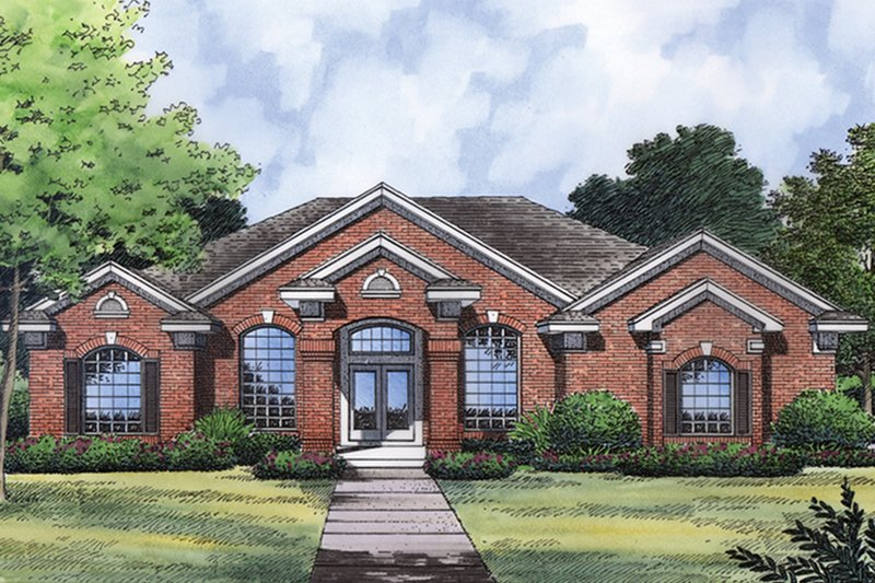 House Plan Design - Traditional Exterior - Front Elevation Plan #417-835