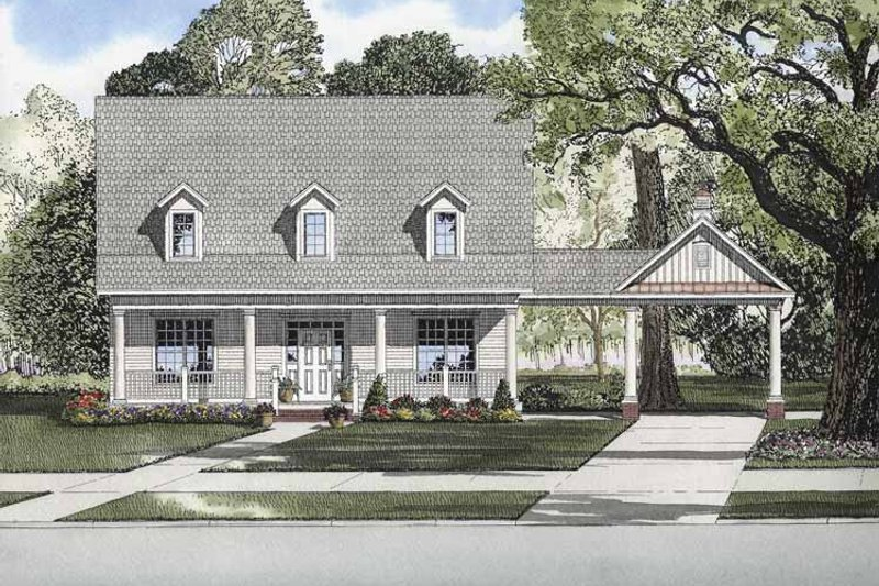 Colonial Exterior - Front Elevation Plan #17-2873