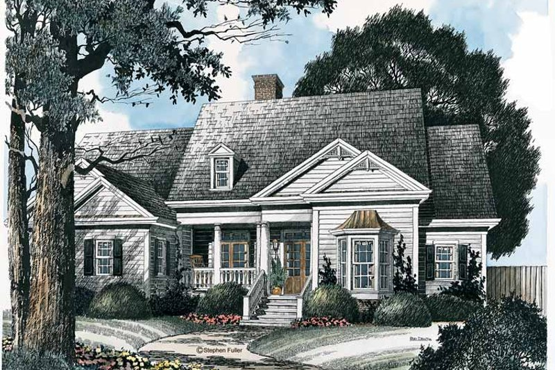 Ranch Exterior - Front Elevation Plan #429-172