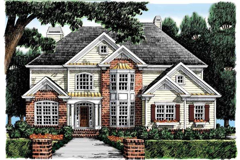 Colonial Exterior - Front Elevation Plan #927-875 - Houseplans.com