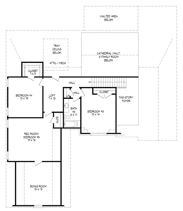 Dream House Plan - Southern Floor Plan - Upper Floor Plan #932-340
