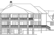 Dream House Plan - Exterior - Rear Elevation Plan #124-884