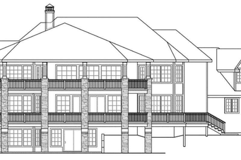 Exterior - Rear Elevation Plan #124-884 - Houseplans.com