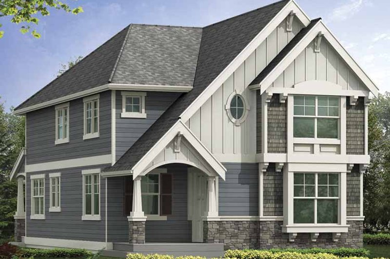 Craftsman Exterior - Front Elevation Plan #132-386 - Houseplans.com