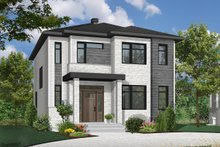 Home Plan - Contemporary Exterior - Front Elevation Plan #23-2307