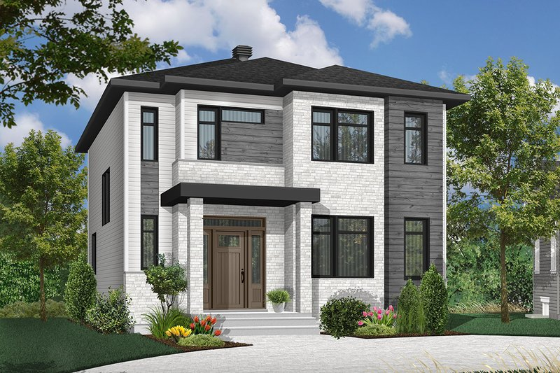 Dream House Plan - Contemporary Exterior - Front Elevation Plan #23-2307