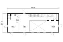 Modern Floor Plan - Upper Floor Plan Plan #497-18