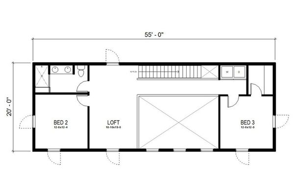 Modern Floor Plan - Upper Floor Plan Plan #497-18