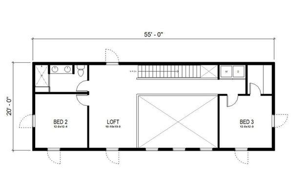 Modern Floor Plan - Upper Floor Plan #497-18