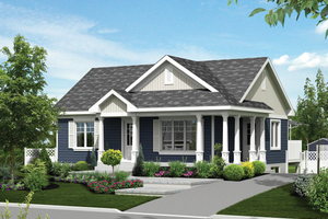 Country Exterior - Front Elevation Plan #25-4290