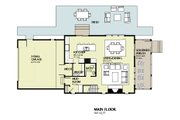 Beach Style House Plan - 3 Beds 2.5 Baths 1997 Sq/Ft Plan #901-121 Floor Plan - Main Floor Plan