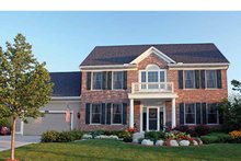 Colonial Exterior - Front Elevation Plan #51-1090