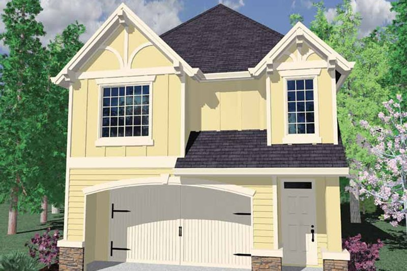 Country Exterior - Front Elevation Plan #509-213 - Houseplans.com