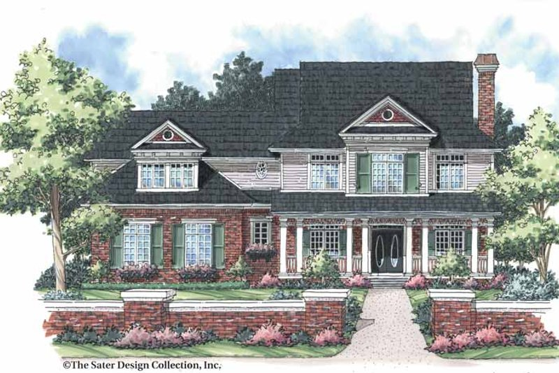 Colonial Exterior - Front Elevation Plan #930-252