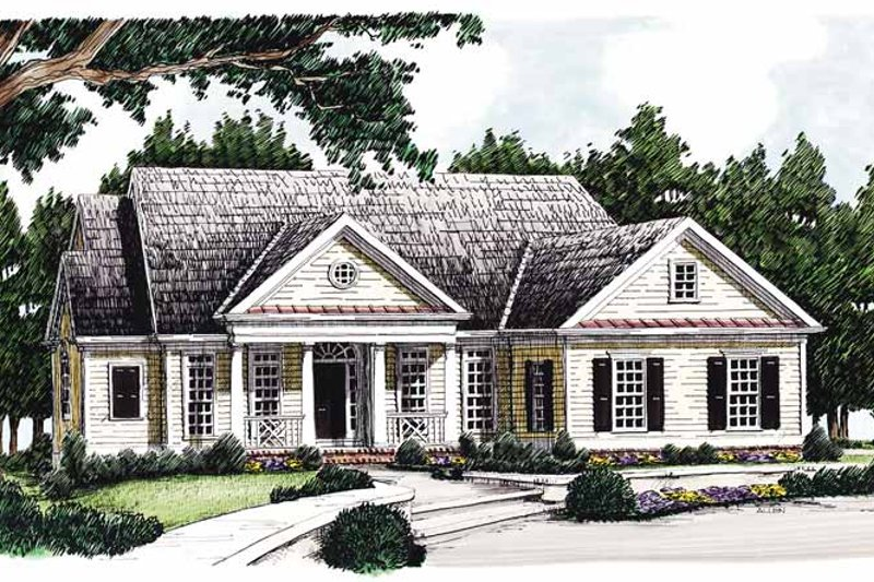 Classical Exterior - Front Elevation Plan #927-352