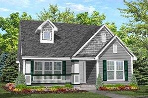 Craftsman Exterior - Front Elevation Plan #50-124