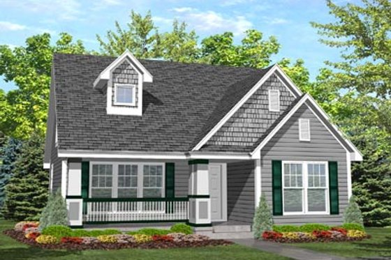 Craftsman Exterior - Front Elevation Plan #50-124