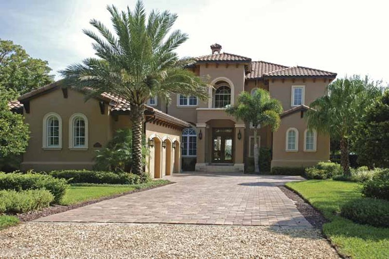 House Plan Design - Mediterranean Exterior - Front Elevation Plan #1019-17