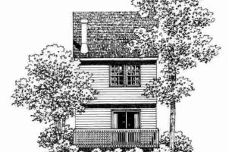 Traditional Exterior - Rear Elevation Plan #72-337 - Houseplans.com