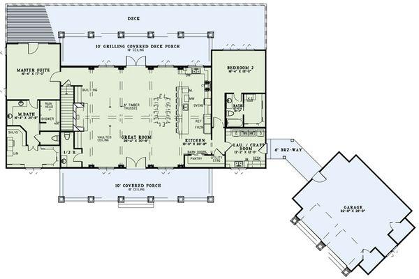European Floor Plan - Main Floor Plan Plan #17-2545