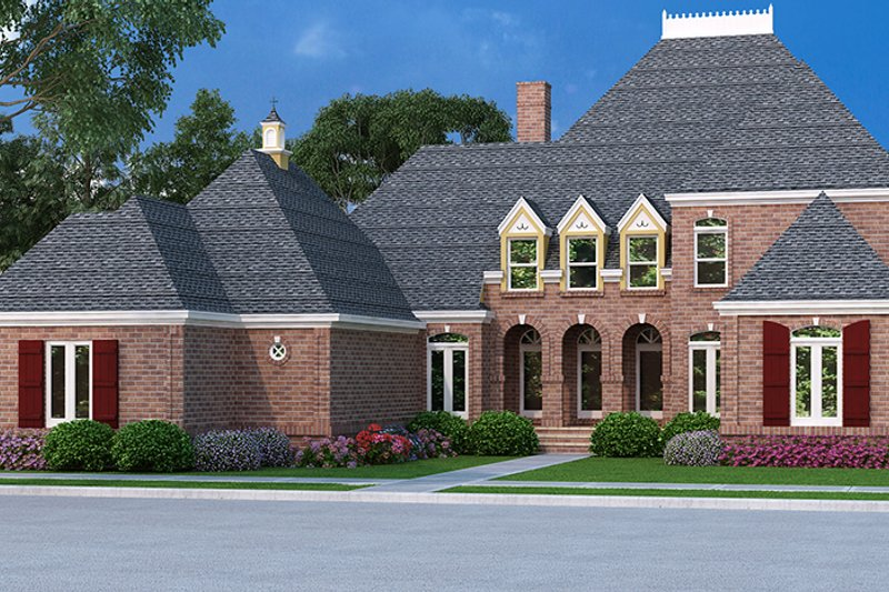 Country Exterior - Front Elevation Plan #45-458 - Houseplans.com