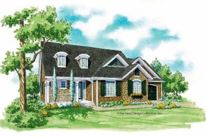 Home Plan Design - Country Exterior - Front Elevation Plan #930-248