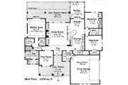 Craftsman Style House Plan - 3 Beds 2 Baths 2034 Sq/Ft Plan #51-520 Floor Plan - Main Floor Plan