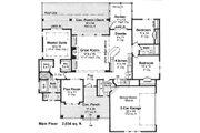 Craftsman Style House Plan - 3 Beds 2 Baths 2034 Sq/Ft Plan #51-520 Floor Plan - Main Floor