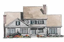 House Plan Design - Colonial Exterior - Rear Elevation Plan #429-178