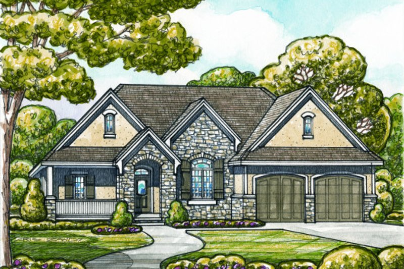 Home Plan - European Exterior - Front Elevation Plan #20-2132