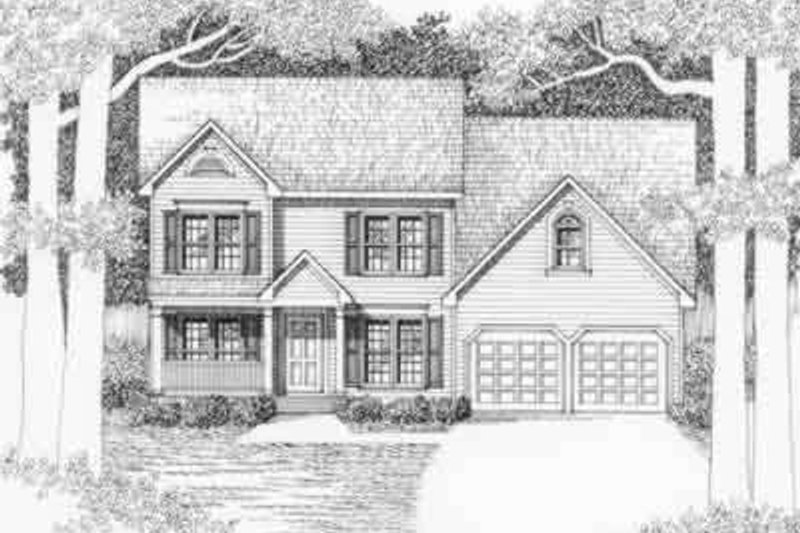 Southern Exterior - Front Elevation Plan #129-148